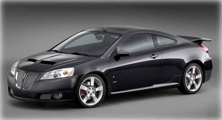 2010 Pontiac G6 Coupe. Built upon GM's Epsilon platform (shared with other