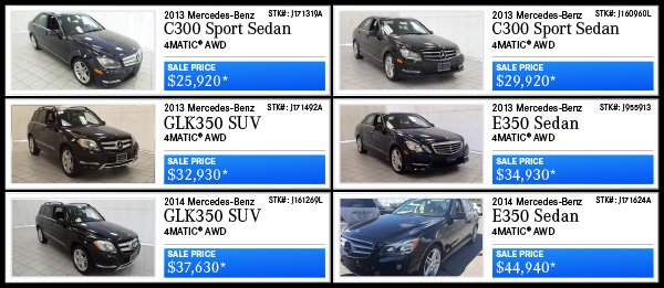 Certified Pre-Owned offers!
